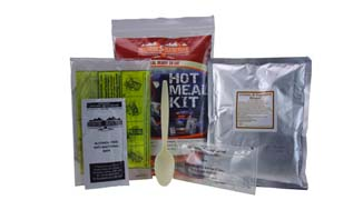 Hot Meal Kit and self-heating MRE meal-ready-to-eat | excellent addition go Bugout Bag or Go Bag | Bugout Bag info - EVAQ8.co.uk Emergency Preparedness